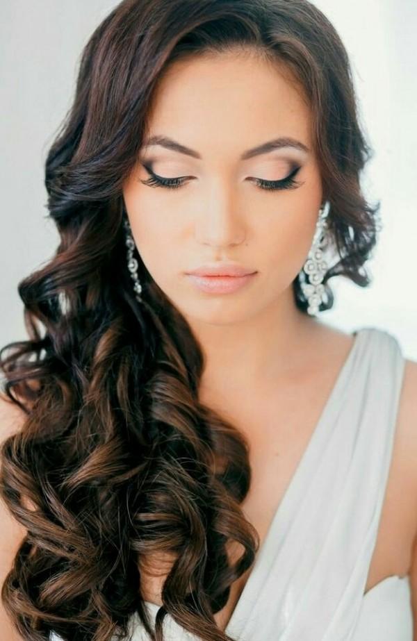 long hair wedding curls