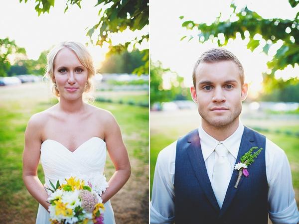 bride groom portraits after wedding