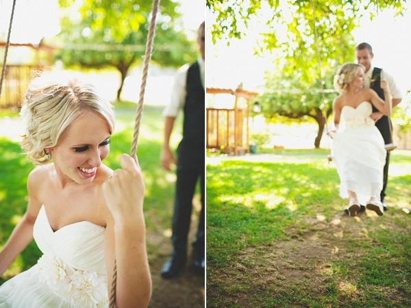 bride groom fun portrait