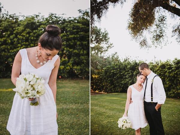 bride groom backyard wedding
