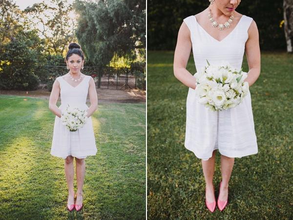 short white dress bride