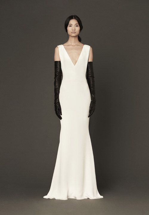 vera wang wedding gown white and black