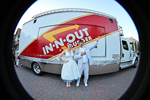 in n out food truck wedding