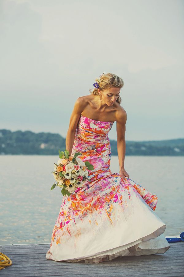 c1616541814f0 Swoonworthy floral wedding dresses for the girly and chic bride ...