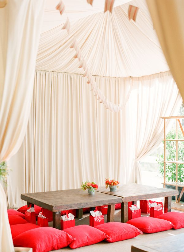 kids tent wedding