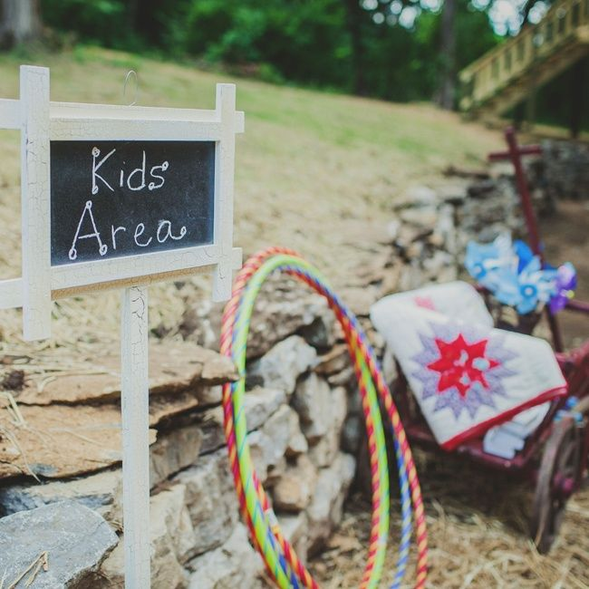 kids game area weddings