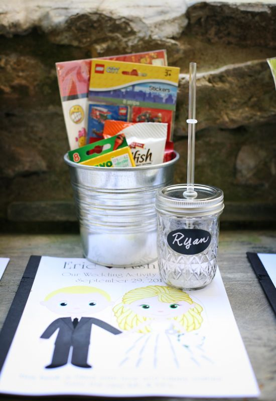 kids craft station wedding