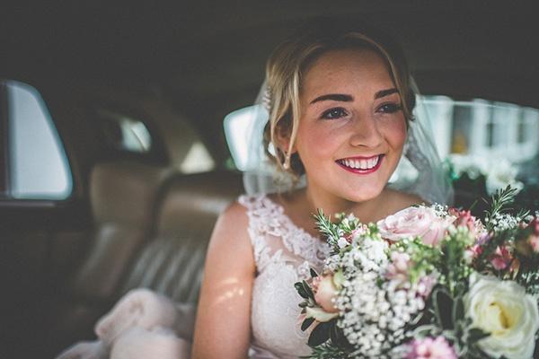 pink lipstick bridal style