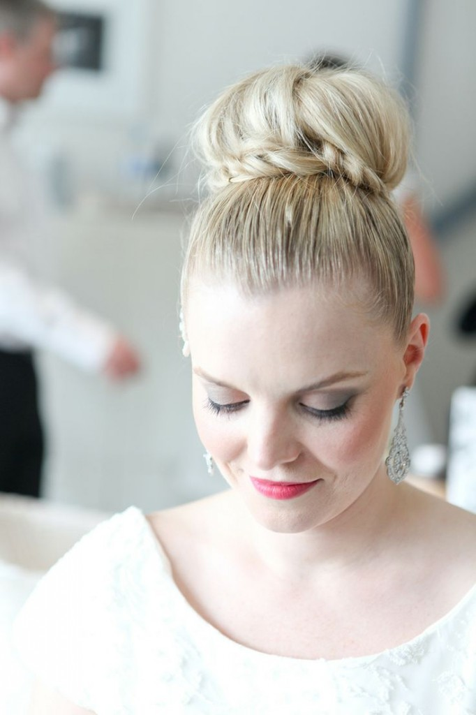 wedding day top knot