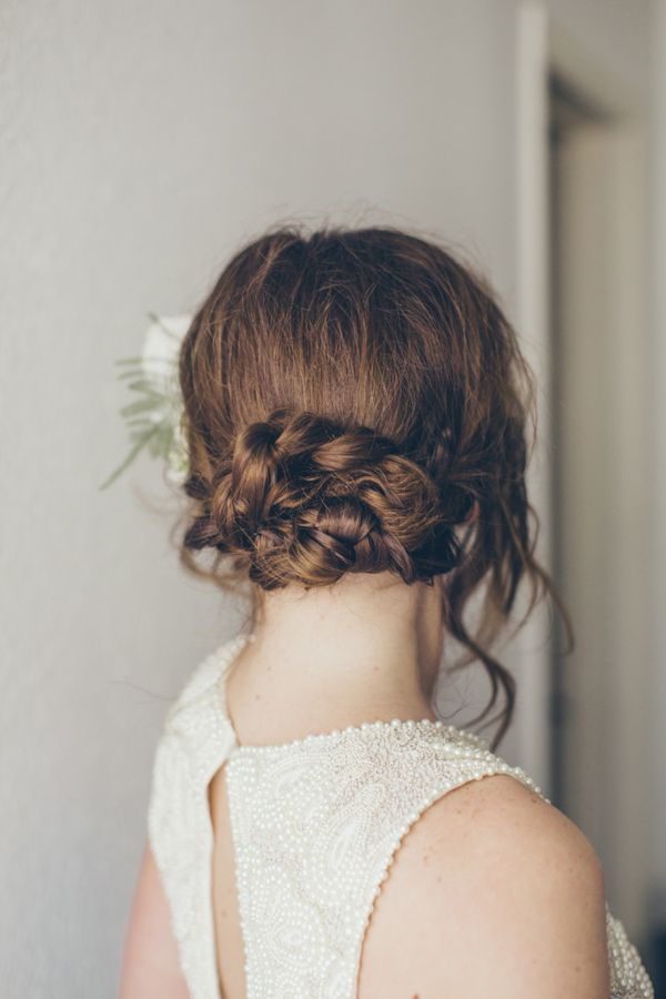 braided wedding updo