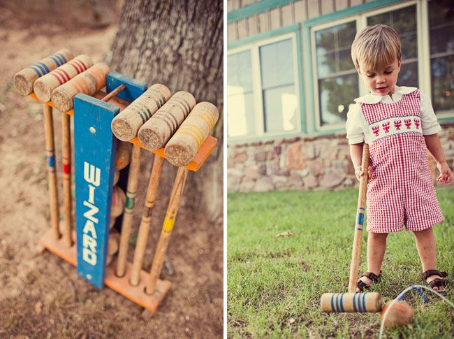 wedding croquet kids