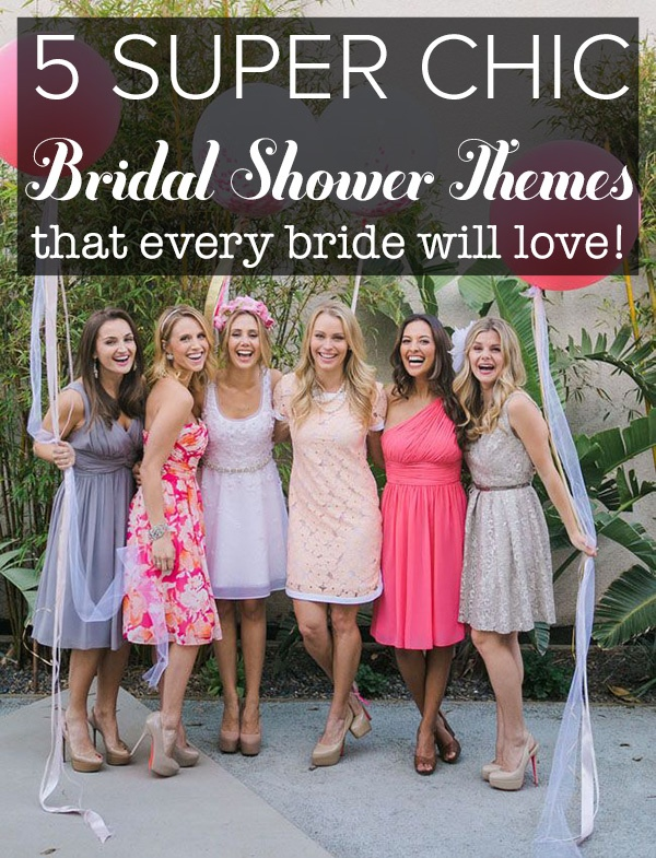 chic bridal shower themes the bride will love wedpics blog