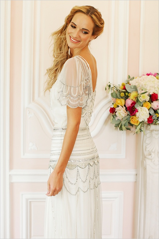 gastby style wedding dress