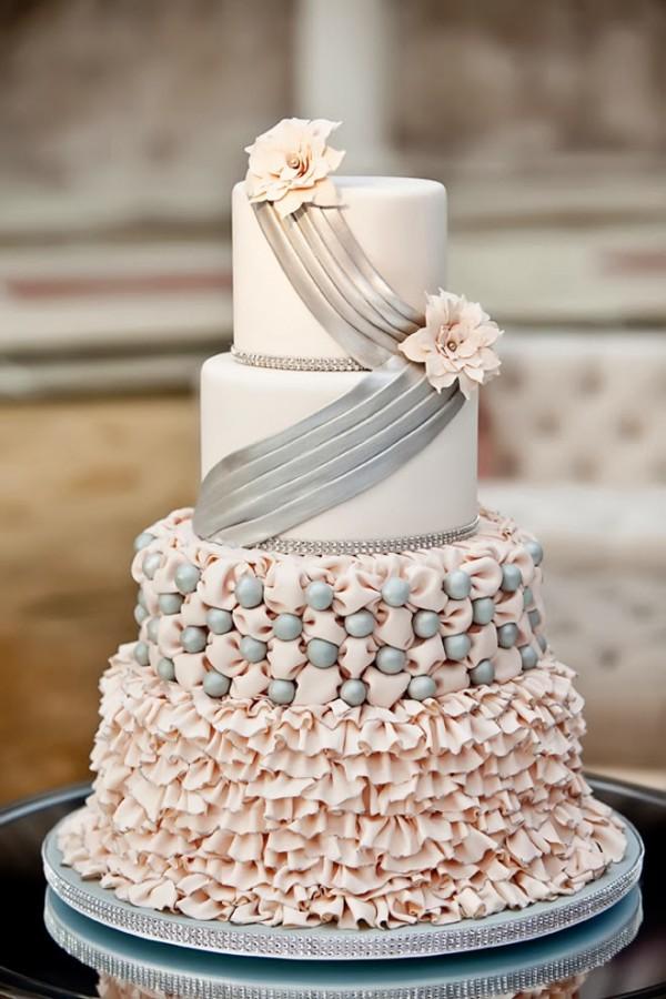lavish wedding cake