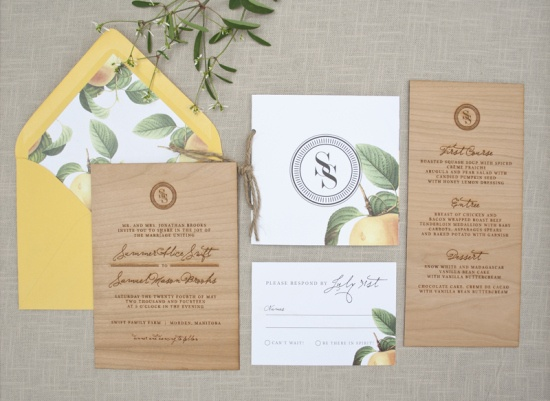 osbpWood-Engraved-Citrus-Wedding-Invitations-Paper-Airplanes