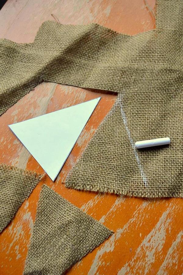 Tattooed Martha - No-Sew Burlap Triangle Banner (2)