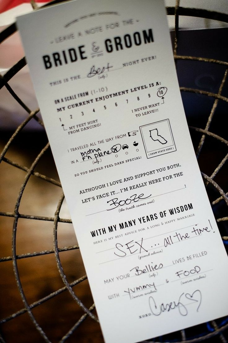 Quirky Wedding Ideas For Reception