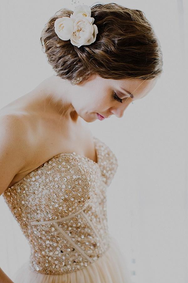 20 gold wedding dresses inspired by jessica simpson wedpics blog junglespirit Choice Image