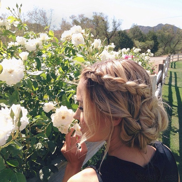 Lauren Conrad beautiful braided updo. Total wedding hair inspiration