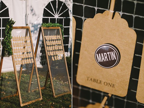 DIY wedding placecards
