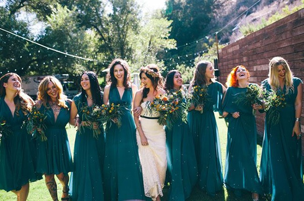 69012e5078ed Jewel toned bridesmaid dresses: fall's must-have wedding look ...