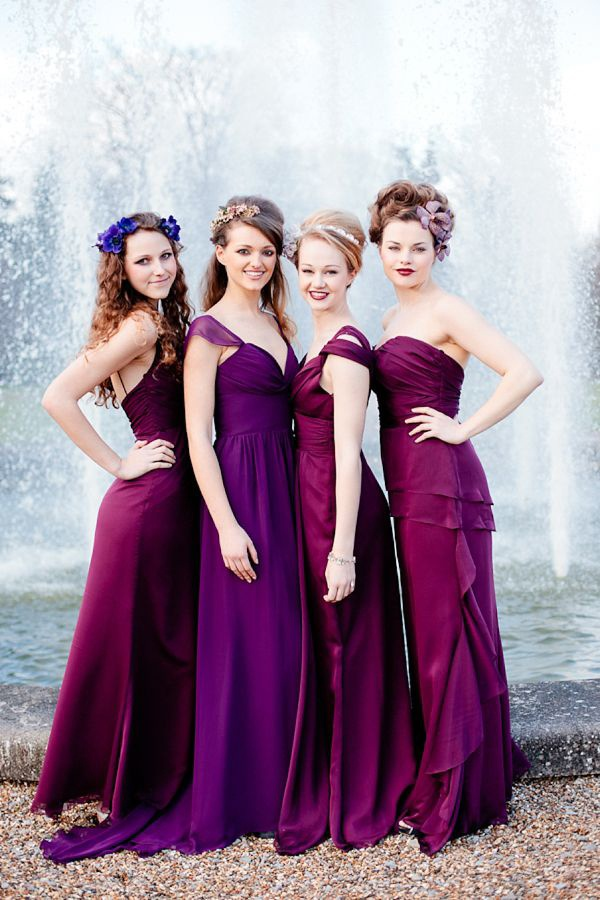 Jewel toned bridesmaid dresses: fall\'s must-have wedding look ...