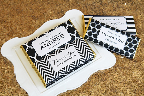 Win Luxe Personalized Candy Bar Wrappers For Wedding Favors From