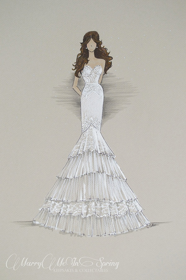 Win a custom bridal illustration from Marry Me In Spring! — Wedpics Blog