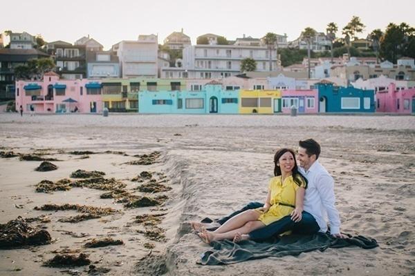 Playful Beach Engagement