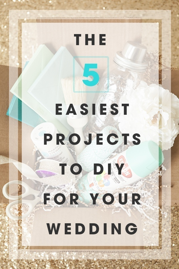 The 5 Easiest Projects to DIY for your Wedding by Jen of Something Turquoise