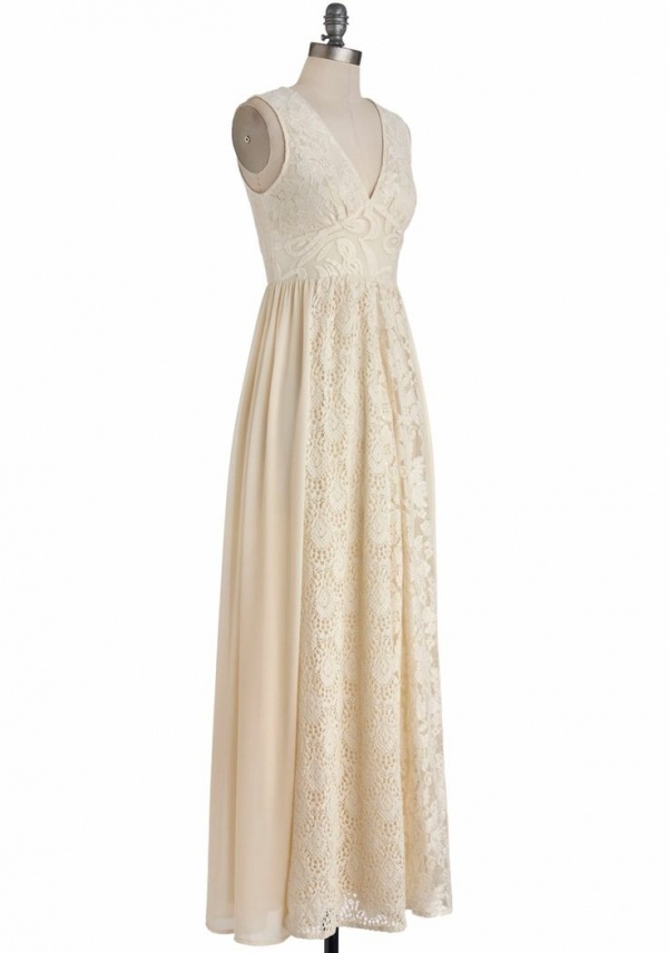 This gorgeous ivory dress from Mod Cloth is perfect for a bohemian wedding and it's under $200!