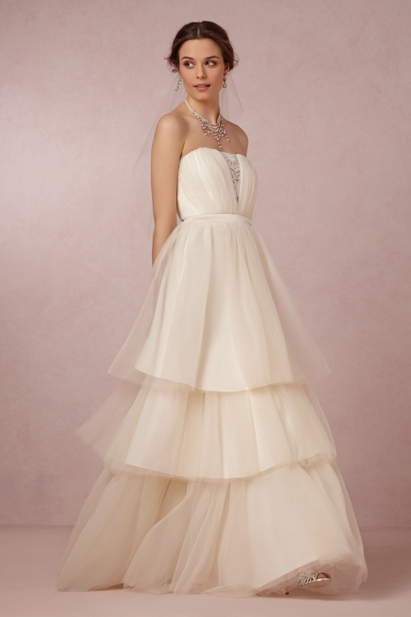 c51ac4ed01e Bhldn tiered wedding dress for  240. Read the post for even more gorgeous dresses  under