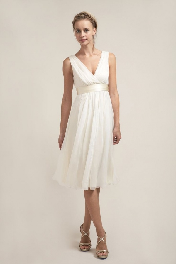 Superb tea length Saja Wedding dress under $500