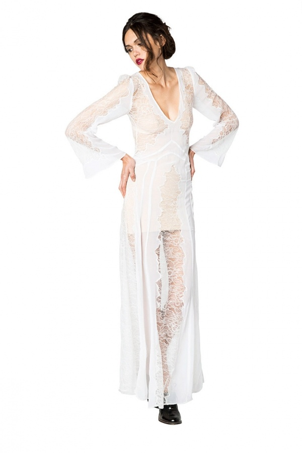 Beautiful bohemian wedding dress by Stone Cold Fox, under $500!