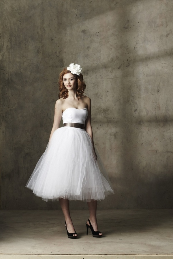 Incredibly Fun Tea Length Wedding Dress By Ouma Under 500