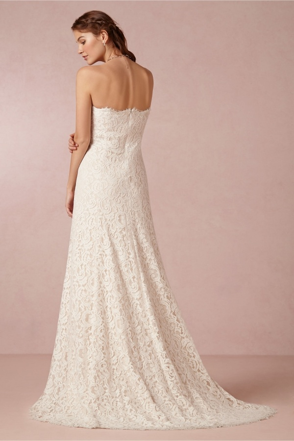 Lovely all lace wedding dress by Bhldn, under $500