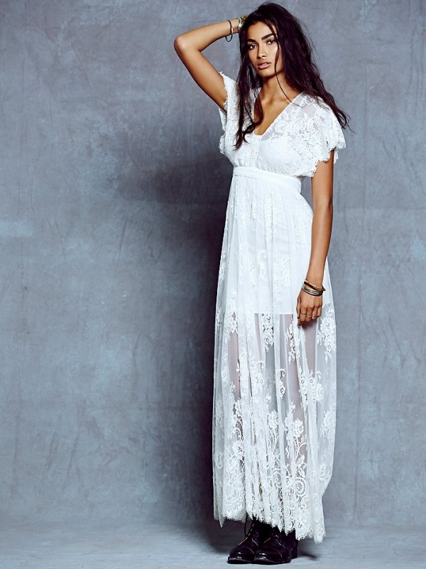 This ethereal lace maxi from Free People makes the best wedding dress, and it's under $500!
