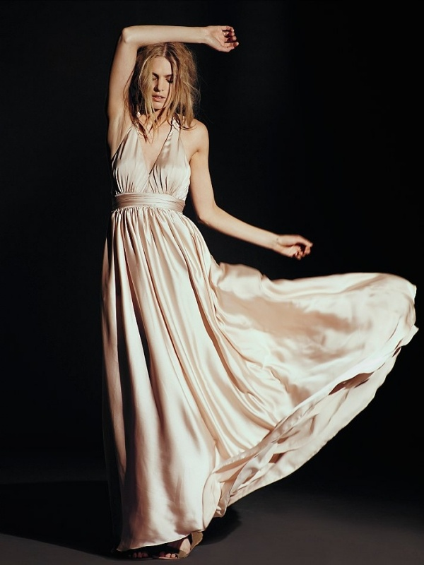 Love this gorgeous silk alternative wedding dress from Free People under $500
