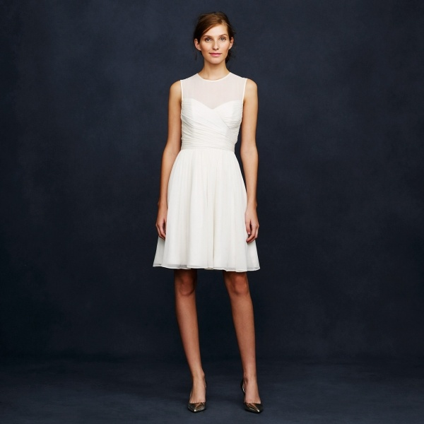 Silk chiffon short wedding dress from JCrew under $500