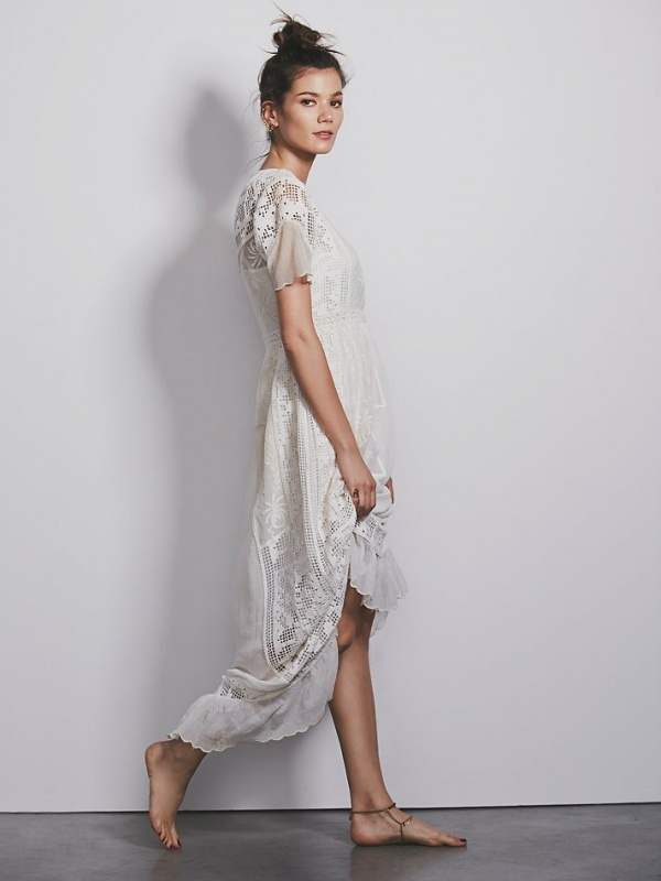 Gorgeous tulip maxi perfect as an alterntative wedding dress! Its under $500 and from Free People!