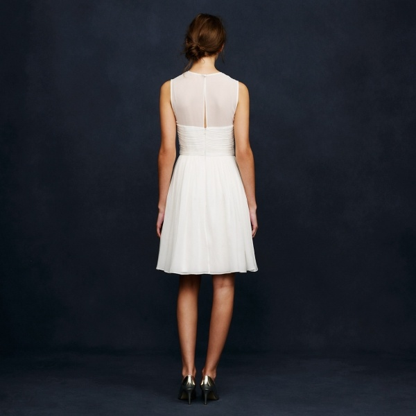 Gorgeous illusion back on this silk chiffon dress from JCrew under $500