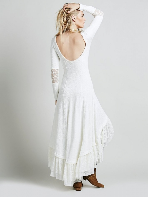 This gorgeous victorian maxi dress from Free People makes the perfect alternative wedding dress
