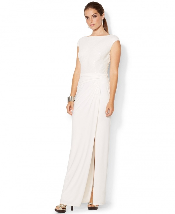 Exquisite shimmering bodice gown by Ralph Lauren, under $500!