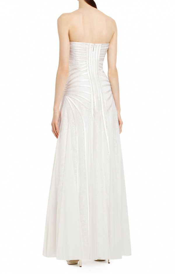 Take everyone's breath away in this beautifully captivating, confidently constructed wedding gown, under $500.