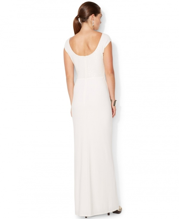 Lovely figure flattering wedding dress by Ralph Lauren, under $500!