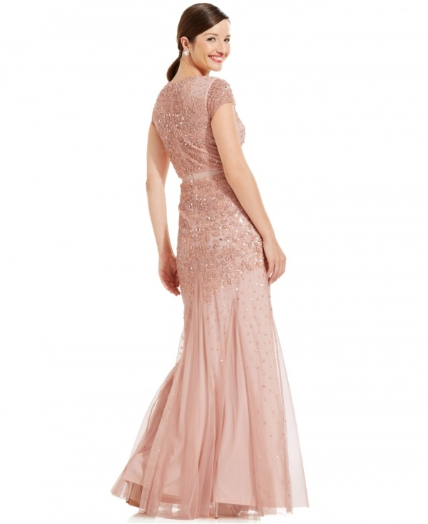 This embellished blush gown will be a showstopper at your wedding and it's under $500!