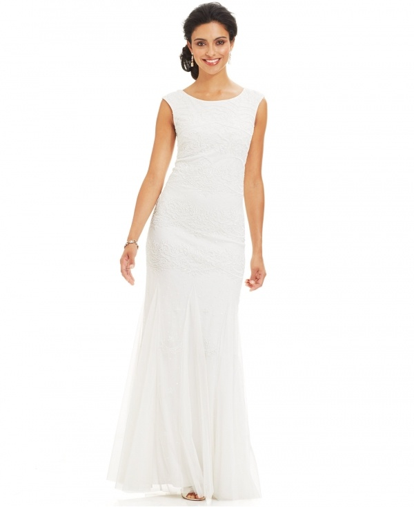 Gorgeous jeweled Adrianna Papell gown under $500
