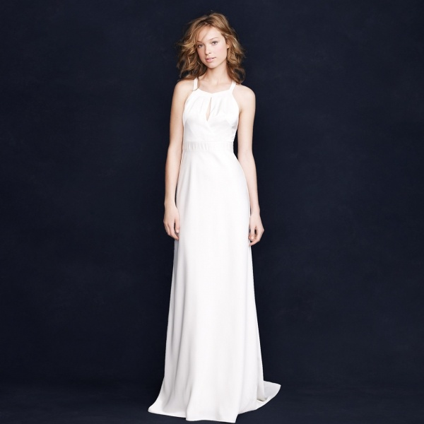 Glamorous understated Jcrew wedding dress under $500!