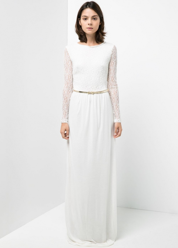 Gorgeous blond lace dress, perfect for a non-traditional wedding dress, and under $500!