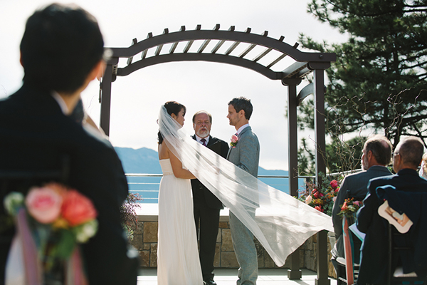 Gorgeous couple at their Lake Tahoe wedding. Love this!
